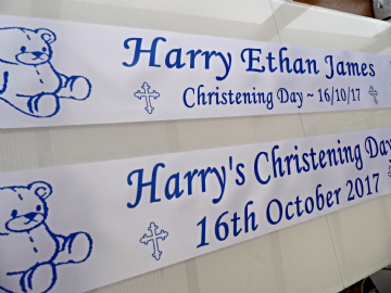 2 x Personalised Christening Banners